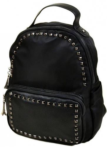 Стильный женский рюкзак из нейлона 8769 black, черный
