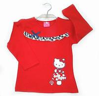 Реглан для девочки Kitty красный коттон (116)р Vilen Китай 2915
