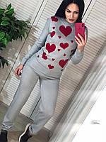 Вязаный костюм Сердечки