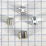 Ограничитель для металлической молнии X Т5 нижний (упаковка 50гр примерно 105 штук) a6111, фото 3