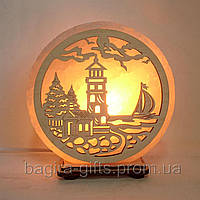 Соляная лампа круглая Маяк