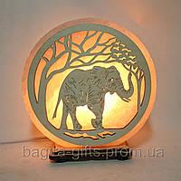 Соляна лампа кругла Слон