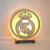 Соляна лампа кругла Реал-Мадрид