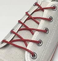 Шнурки с пропиткой круглые красный 80 см, фото 1