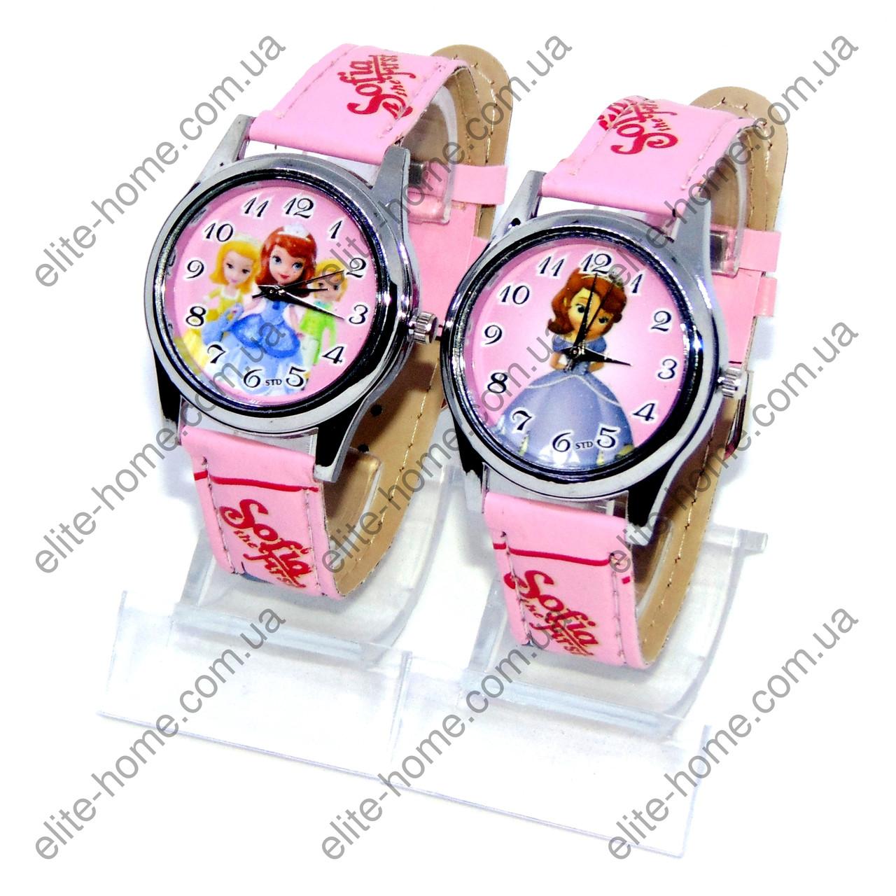 """Дитячі наручні годинники """"Софія (Sofia the First)"""" в подарунковій упаковці (рожевий ремінець)"""