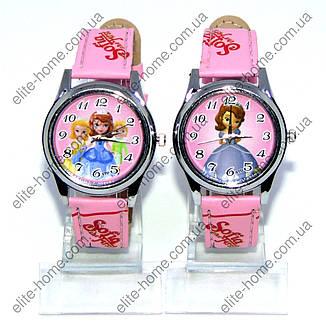 """Дитячі наручні годинники """"Софія (Sofia the First)"""" в подарунковій упаковці (рожевий ремінець), фото 2"""