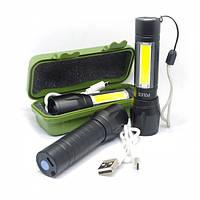 Фонарик Police USB BL 509 с зумом в пластиковом футляре