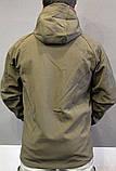 Куртка тактическая софт шелл. Оригинальная ткань soft shell (ветровлагозащитная), фото 5
