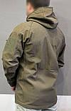 Куртка тактическая софт шелл. Оригинальная ткань soft shell (ветровлагозащитная), фото 6