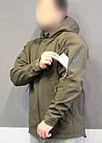 Куртка тактическая софт шелл. Оригинальная ткань soft shell (ветровлагозащитная), фото 2