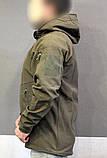Куртка тактическая софт шелл. Оригинальная ткань soft shell (ветровлагозащитная), фото 3
