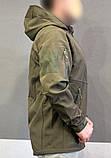 Куртка тактическая софт шелл. Оригинальная ткань soft shell (ветровлагозащитная), фото 4
