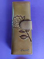 Женский кошелёк- визитница Cosset кофейный, для карт стильный и удобный