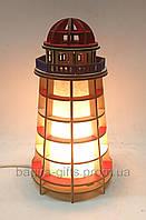 Соляний світильник дерев'яний Маяк, фото 1