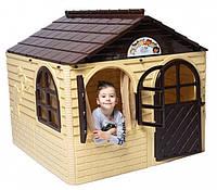 Детский игровой пластиковый домик со шторками ТМ Doloni (средний) 02550/2