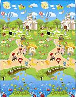 Детский двухсторонний игровой ковер 1800*2000*5 мм. ЗАМОК+БУКВЫ.