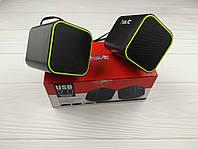 Колонки акустические Havit HV-SK473 USB black+green 7.2см, фото 1