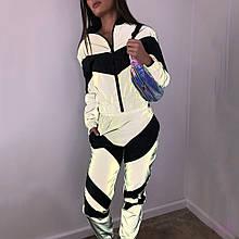Женский костюм спортивный с черной вставкой