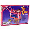 Детская игрушечная мебель Глория Gloria для кукол Барби для чаепития, тележка, аксессуары, 98008 - Фото