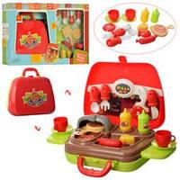 Посуда 16804-A в чемодане - детский игровой набор пицца