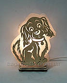 Соляний світильник Собака велика