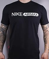 Размеры: 48/50/52. Мужская футболка Nike AIR, 100 % cotton - черная