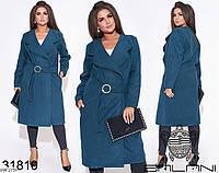 Модное кашемировое весеннее пальто по колено размеры 46-60 арт 7139