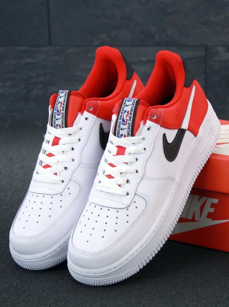 Мужские кроссовки Air Force 1 low white белые