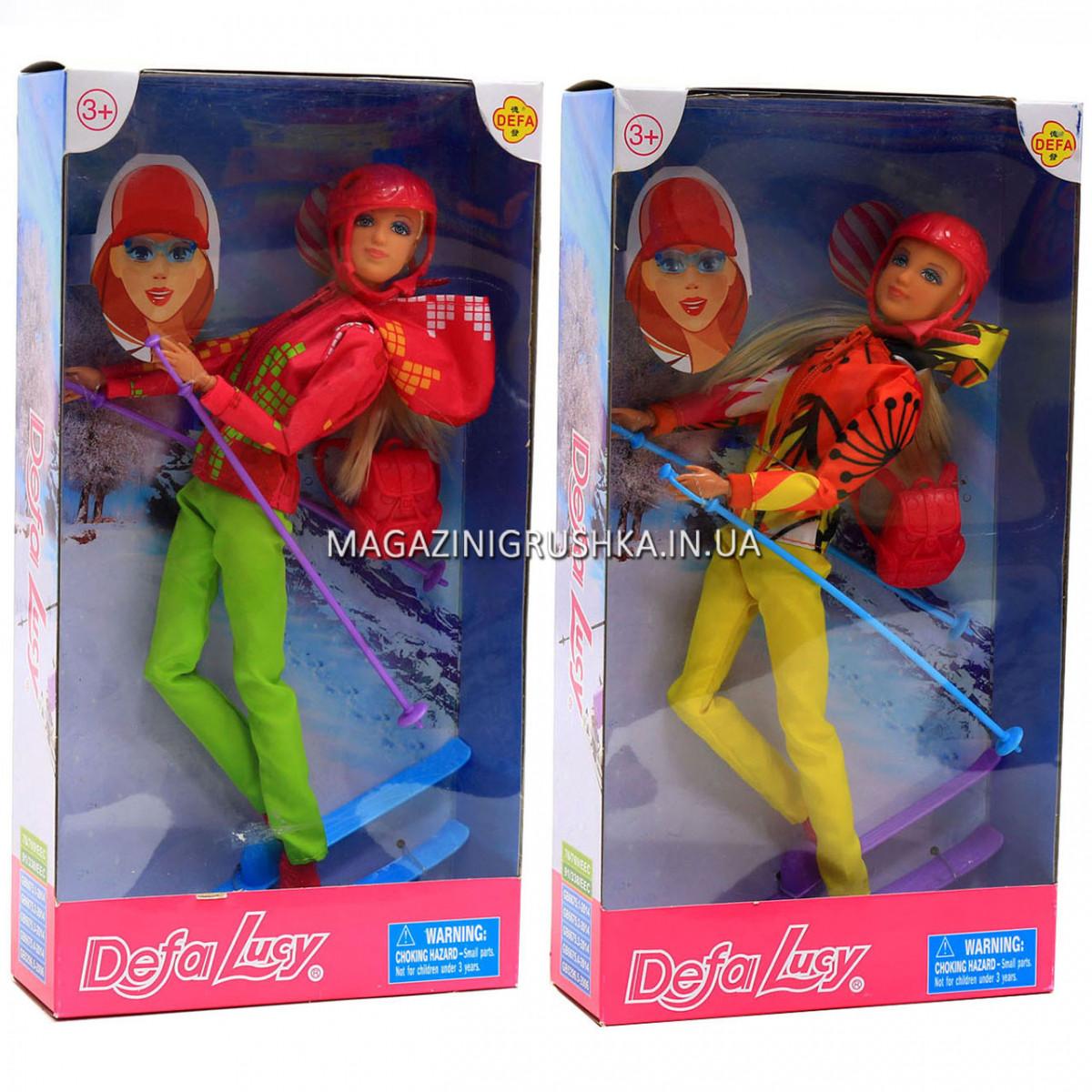 Кукла Defa лыжница для девочки 8373 - 2 вида.