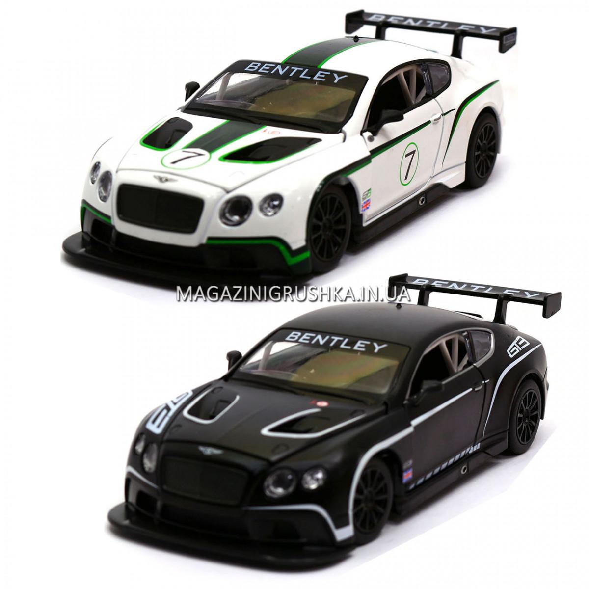 Машинка ігрова автопром «Bentley Continental GT3 Concept» (Бентлі) Білий 68266A