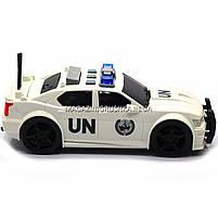 Машинка игровая автопром «Автомобиль ООН», 19х8х7 см, пластик (свет, звук) 7916ABC, фото 3