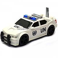 Машинка игровая автопром «Автомобиль ООН», 19х8х7 см, пластик (свет, звук) 7916ABC, фото 4