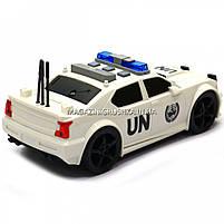 Машинка игровая автопром «Автомобиль ООН», 19х8х7 см, пластик (свет, звук) 7916ABC, фото 5