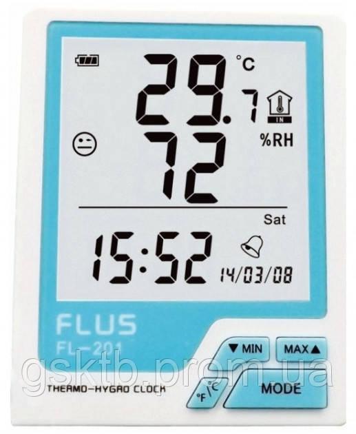 Термогигрометр Flus FL-201 (-20...+60 ºС; 10%…99%)
