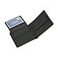Мужской Кошелек Кожаный Baellerry Simple (G1603) Маленький для Карточек с Монетницей Черный, фото 7