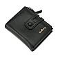 Мужской Кошелек Бумажник Baellerry (D3206) Маленький для Карточек на Кнопке Черный, фото 8