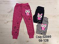 Спортивные штаны для девочек оптом, Seagull, 98-128 см,  № CSQ-52069