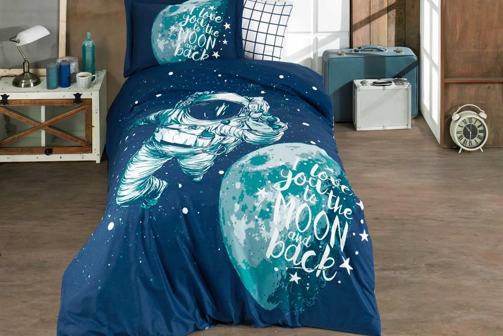 Постельное белье 1,5-спальное HOBBY Galaxy синий