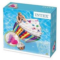 Матрас надувной Intex Кекс (Cupcake) арт.58770. Отлично подходит для отдыха на море, в бассейне, фото 2