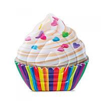 Матрас надувной Intex Кекс (Cupcake) арт.58770. Отлично подходит для отдыха на море, в бассейне, фото 3