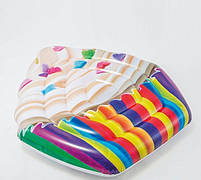 Матрас надувной Intex Кекс (Cupcake) арт.58770. Отлично подходит для отдыха на море, в бассейне, фото 4