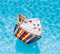 Матрас надувной Intex Кекс (Cupcake) арт.58770. Отлично подходит для отдыха на море, в бассейне, фото 5