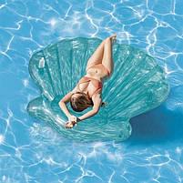Матрас надувной Intex Морская Ракушка (Seashell) арт.57255. Отлично подходит для отдыха на море, в бассейне, фото 3