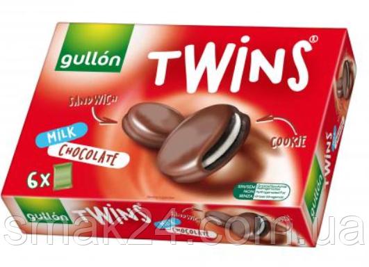 Печиво сендвіч без трансжирів у молочному шоколаді Twins Gullon 252г (6х42г) Іспанія