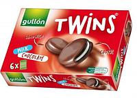 Печенье сэндвич без трансжиров в молочном шоколаде Twins  Gullon 252г (6x42г) Испания, фото 1