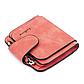 Женский Кошелек Baellerry Forever Mini (N2346) Маленький Замшевый на Кнопке для Карточек Красный, фото 9