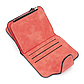 Женский Кошелек Baellerry Forever Mini (N2346) Маленький Замшевый на Кнопке для Карточек Красный, фото 8