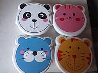 Ланчбокс, ланч бокс зверята, бутербродница, контейнер для еды, для обедов, детский ланчбокс в школу, фото 1