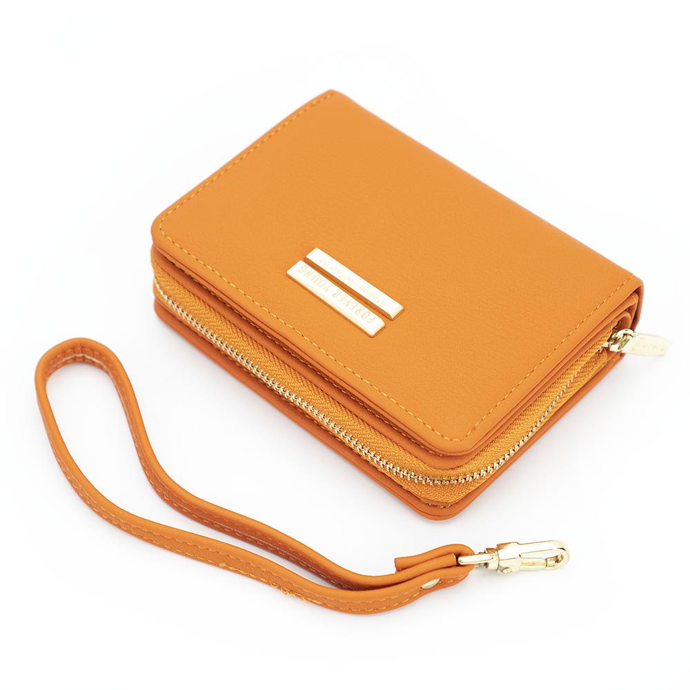 Женский Кошелек Бумажник Маленький на Молнии для Карточек Weichen (C8572-7) Оранжевый