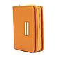 Женский Кошелек Бумажник Маленький на Молнии для Карточек Weichen (C8572-7) Оранжевый, фото 2